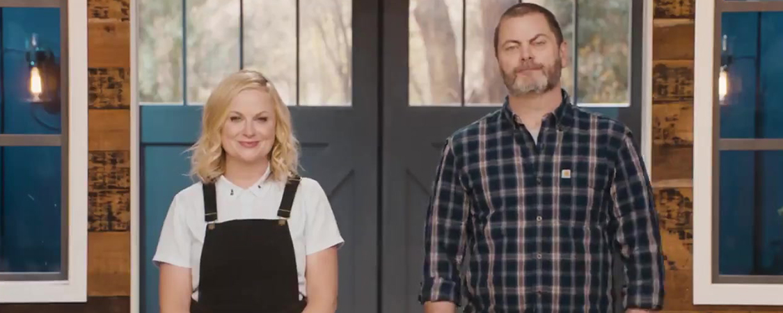 Amy Poehler and Nick Offerman send a message to 'Parks and Recreation' fans + A special gift from 'Making It' Contestant