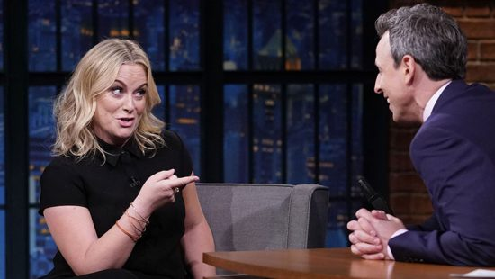Amy Poehler appears on Late Night with Seth Meyers