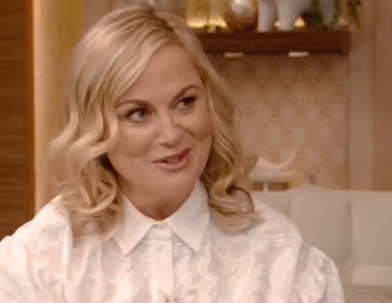 Amy Poehler gets interviewed on Live with Kelly and Ryan
