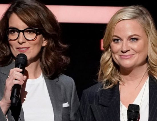 Amy Poehler and Tina Fey attend the 2019 NBC Upfront