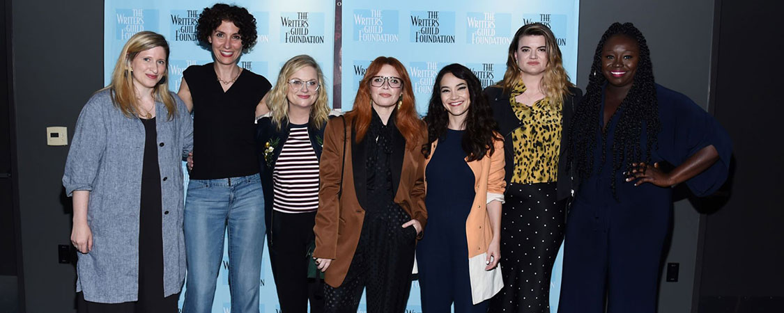 Amy Poehler attends the  Inside The Writer's Room Of 'Russian Doll' Panel Event