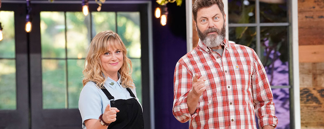 Amy Poehler & Nick Offerman talk 'Making it' with Deadline