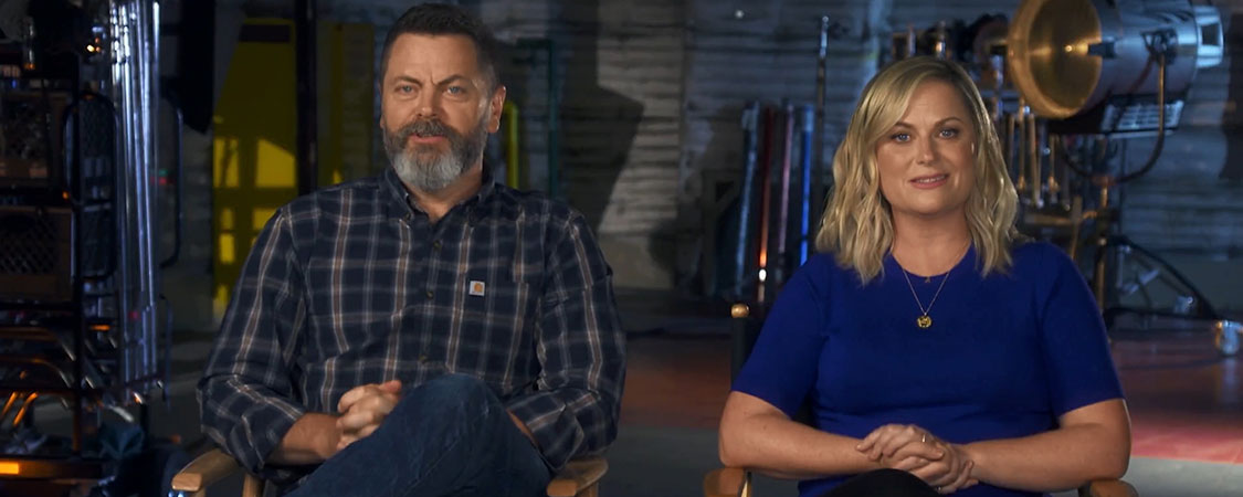 (Video) Nick Offerman and Amy Poehler appear on the 2019 NBC Primetime Preview Show