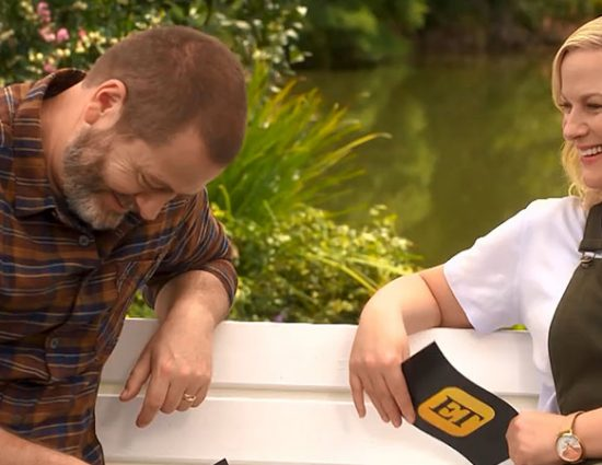 Nick Offerman and Amy Poehler Interview Each Other for Entertainment Tonight