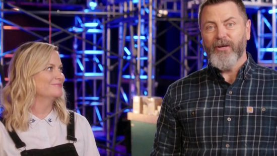 "Amy Poehler and Nick Offerman Appear on ""The Voice"""