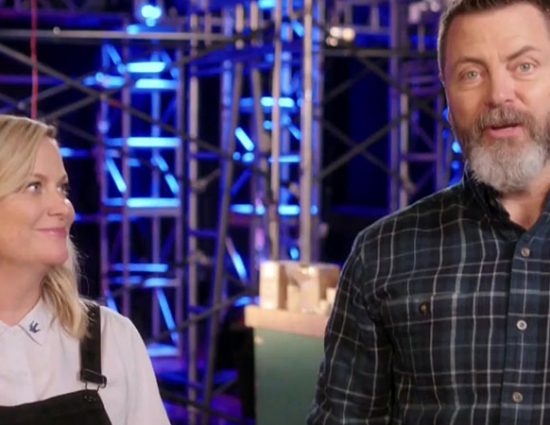 """Amy Poehler and Nick Offerman Appear on """"The Voice"""""""