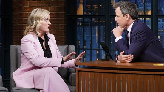 Amy Poehler to appear on Late Night with Seth Meyers for a Remote Interview