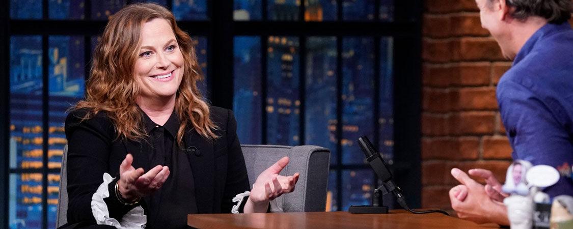 Amy Poehler Visits Late Night With Seth Meyers